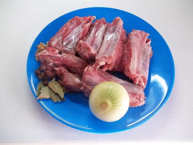 как приготовить борщ на свиных ребрышках