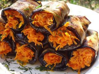Баклажаны, фаршированные морковью