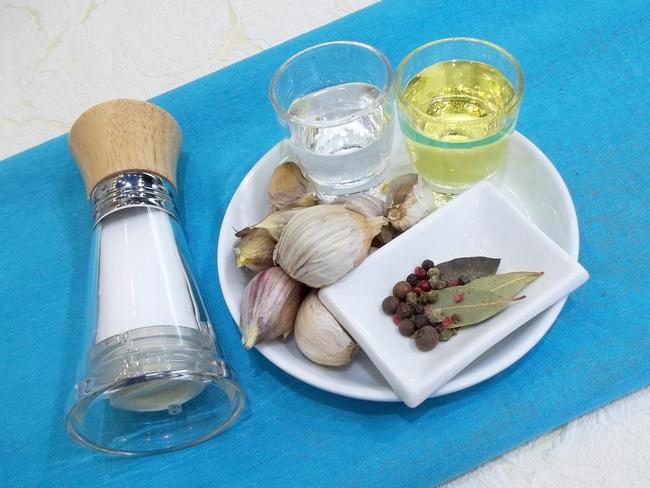 Чеснок маринованный рецепт с