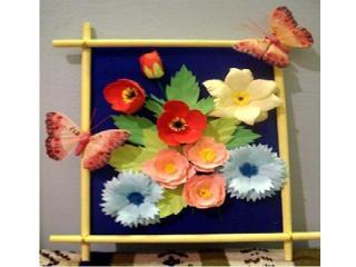 Как сделать панно из искусственных цветов своими руками