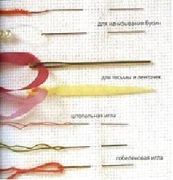 Вышивка лентами-виды швов