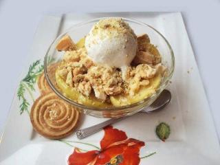 Десерт из орехов с сахаром