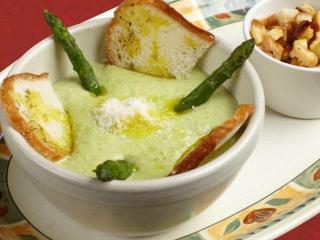 Суп из спаржи. Вегетарианский рецепт.