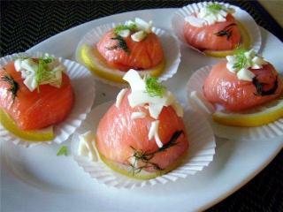 Мешочек из лосося - рецепт с фото