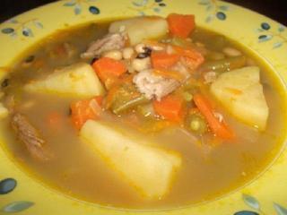Фасолевый суп с бараниной. Оригинальный вкусный рецепт супа.<br> Детское питание