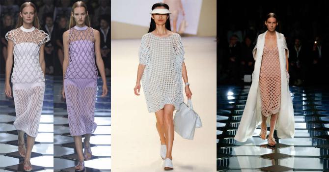 Модные платья из сетки фото