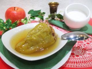 Фаршированный замороженный перец. Рецепт с фото