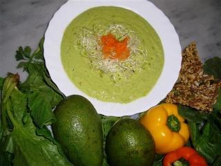 Суп-пюре из авокадо - рецепт с фото