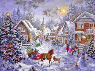Рождественский праздничный стол