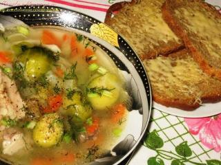Овощной суп с брюссельской капустой