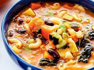 Итальянский суп с макаронами и фасолью. Вусный рецепт итальянского  супа.<br> Национальная итальянская кухня