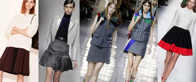 Модные юбки осень-зима 2014-2015: миди и макси пастельных тонов, асимметричные