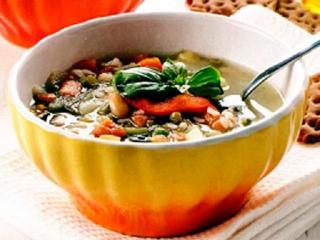 Густой суп с овощами. Вкусный быстрый рецепт супа.<br> Блюдо из овощей