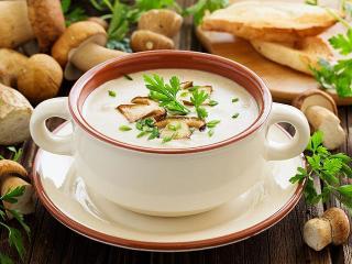 Грибной суп. Вкусный рецепт супа.<br> Детское питание