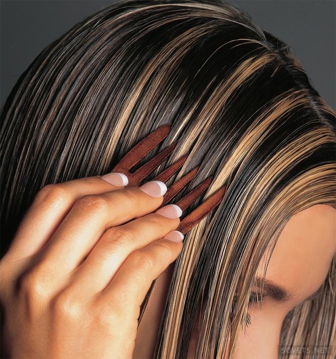 как сделать мелирование на темные волосы