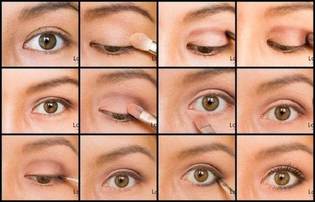 Как сделать правильно макияж на карие глаза
