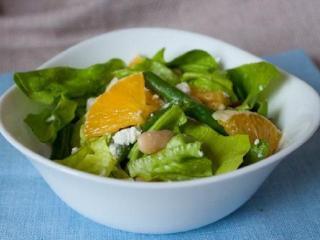 Рыбный салат с фасолью и апельсинами