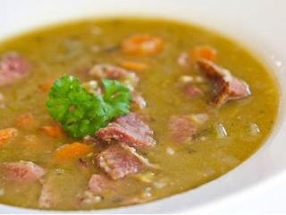 Суп гороховый с свиной грудинкой