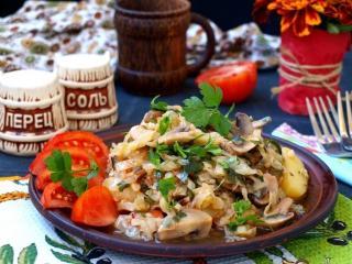 Рагу из овощей с грибами. Простой и быстрый рецепт