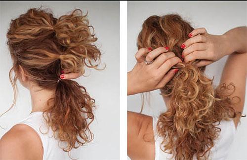 повседневные прически на кудрявые волосы фото