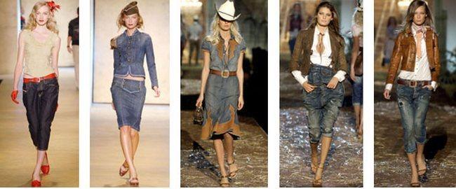Многие дизайнеры сегодня создают коллекции одежды из денима. Среди них известные бренды Levi's, Diesel, Guess и т.д.
