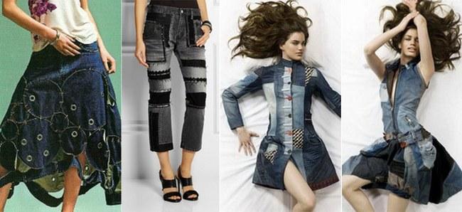 Как сделать из джинса платье