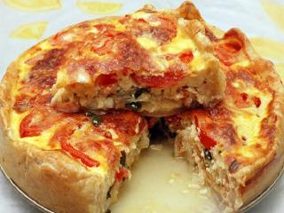 Луковый пирог с помидорами. Вкусный и простой рецепт выпечки пирогов