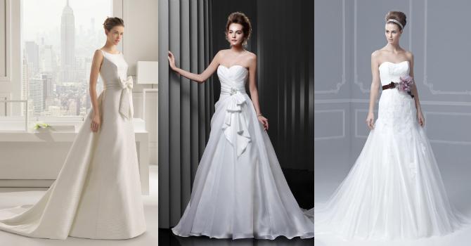 Свадебная мода 2014 - платья-русалка, пышные платья, длинный шлейф, женственность и