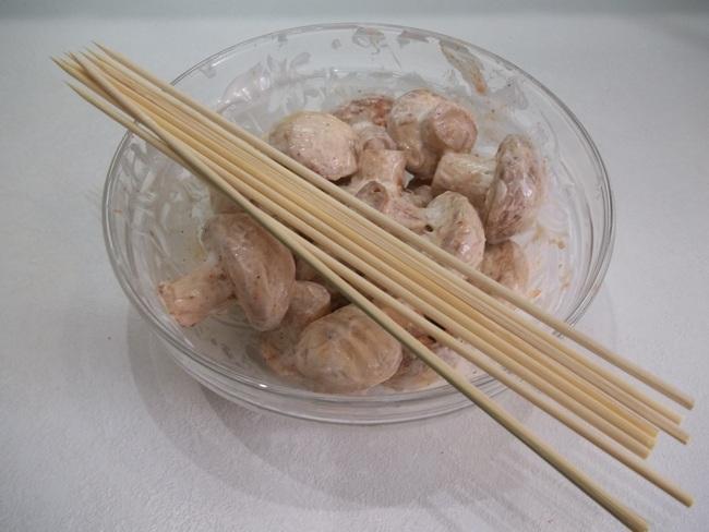 шашлык в духовке с грибов рецепт