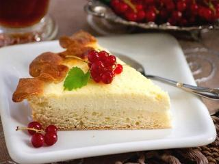Открытый сметанный пирог . Быстрые рецепты вкусной выпечки