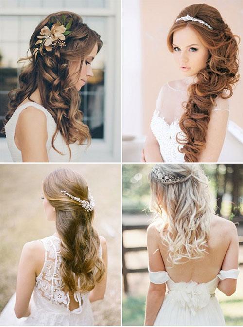 Свадебные прически на длинные волосы - 250 актуальных фотографий 51