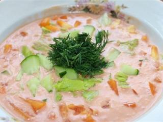Суп из свежих помидоров. Вкусный быстрый рецепт супа.<br> Вегетарианское первое блюдо на каждый день