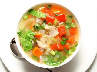 Витаминный суп из запеченных овощей
