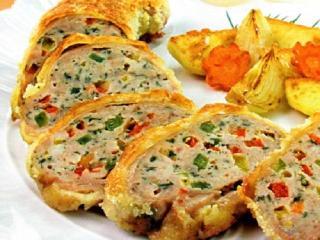 Фаршированная куриная грудка с овощами. Праздничный рецепт