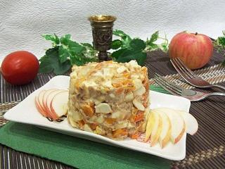 Рыбный салат «Нежность». Рецепт с фото