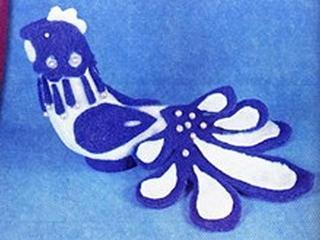 Делаем игрушки: Петушок по мотивам гжельской росписи