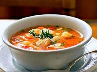 Гороховый суп-пюре с копченой рыбой. Постные рецепты первых блюд