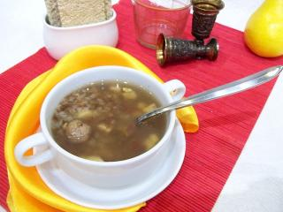 Гречневый суп с фрикадельками. Рецепт с фото