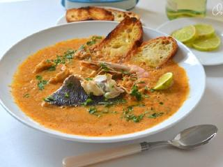 Рыбный суп по - провансальски. Оригинальный рецепт супа.<br> Французская национальная кухня