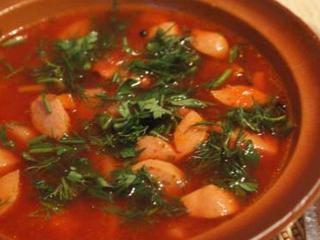 Борщ белорусский отличается от других рецептов борщей отсуствием капусты.