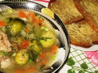 Зимний суп с брюссельской капустой