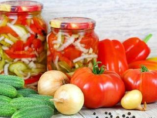 Консервирование салатов - заготовки на зиму