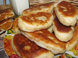 Пирожки жареные с капустой - простой рецепт с фото
