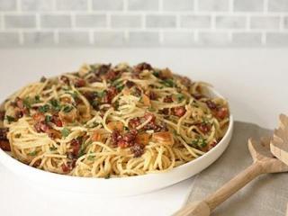 Спагетти « а-ля карбонара». Блюда из макаронных изделий итальянской кухни