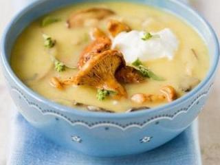 Суп-пюре из лисичек с кабачками